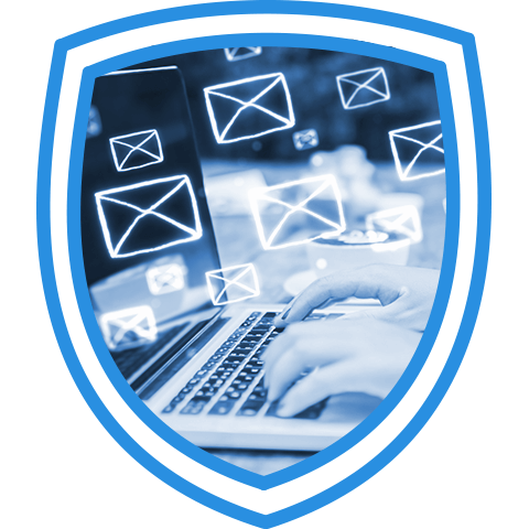 shield protecting business email accounts from sophisticated zero-day attacks