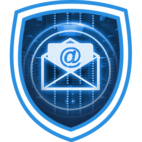 shield blue mail envelope